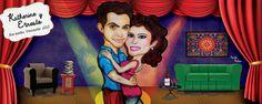 Love couple - Amor - Pareja - Caricature - Caricatura