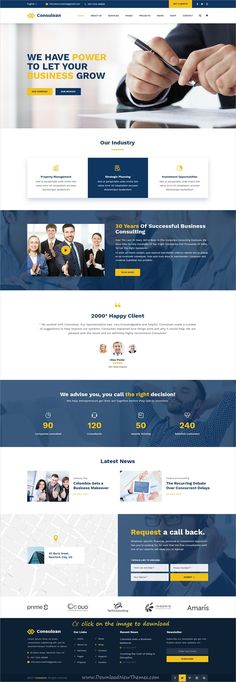 Consuloan is clean and modern design PSD template for business #consulting and #professional services website with 8 homepage layouts and 40 layered PSD pages to download click on image.