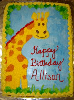 Giraffe Cake Giraffe Birthday Cakes, Giraffe Cakes, Zoo Birthday, Power Rangers Birthday Cake, Zoo Animal Party, Zoo Animals, Let Them Eat Cake, Party Ideas, Kids Rugs