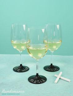 Personalized Chalkboard Wine Glasses