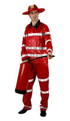 Deguisement De Pompier Rouge - Adulte