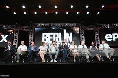 Executive producer Keith Redmon, creator/executive producer Olen Steinhauer, showrunner/executive producer Bradford Winters, actors Mina Tander, Richard Armitage,…