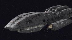 Battlestar Galactica Ships   The Battlestar Pegasus