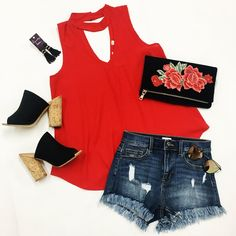 Ridin' Solo Top - Red