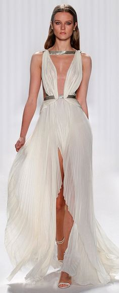 Grecian Style Dress by J. Mendel Spring 2013