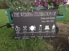 Wedding Reception Timeline Sign by IDoSignDesigns on Etsy, $40.00