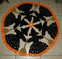 Halloween Circle of Witches And Brooms Crochet Rug Pattern. $4.95, via Etsy.
