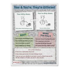 Your & You're: They're Different Print