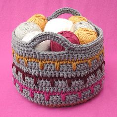 free crochet pattern for spikes yarn basket