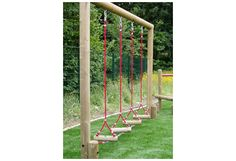 Swinging Rope Playground Steps UK made by Playground Imagineering