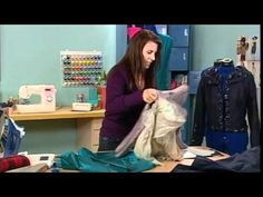 301-1 Angela Wolf teaches techniques for working with silk dupioni on It's Sew Easy - YouTube