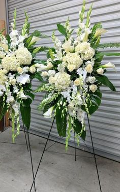White family package(Two standing and One casket spray) – Flora Funeral (Flowers Are Happy) - Modern Casket Flowers, Grave Flowers, Cemetery Flowers, Funeral Floral Arrangements, Large Flower Arrangements, Dad Funeral Flowers, Funeral Caskets, Funeral Sprays, Casket Sprays