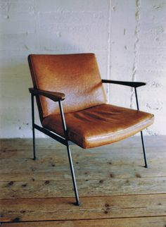 TRUCK|2. FURROWED-LEATHER ARM CHAIR