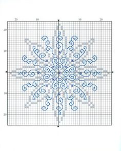 Cross-stitch Snowflake Biscornu <3  ... no color chart available, just use pattern chart as your color guide.. or choose your own colors...