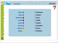 """""""Relaciona nombres individuales con nombres colectivos"""" (Juego de Lengua Española de Primaria) Map, Reading Comprehension, Collective Nouns, Spanish Language, Teaching Resources, Learning Spanish, School Supplies, Location Map, Cards"""