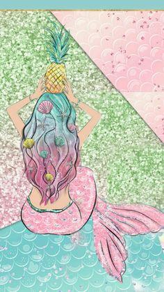 ✿‿phone mermaid in 2019 картины с русалками, рисунки, обои для iphone. Mermaid Fairy, Mermaid Room, Unicornios Wallpaper, Wallpaper Backgrounds, Mermaid Wallpapers, Cute Wallpapers, Mermaid Background, Mermaid Pictures, Unicorns And Mermaids