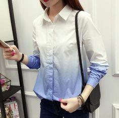 fed1064413f Fashion female cotton white blouses peter pan collar casual shirt Ladies  tops school blouse Women Plus
