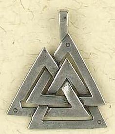 Viking Valknut Pewter Pendant