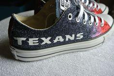 Houston Texan Ombre Custom Converse by JCorreaCreations on Etsy