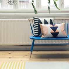 Ferm Living Teppich Kelim 140cm x 80cm, White Lines #FermLiving #artvoll #TopMarke www.artvoll.de