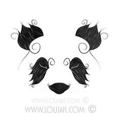 LouJah - El Panda #loujah #illustration #draw #drawing #tattoo #tattoos #panda #minimalist #japan #art #digital