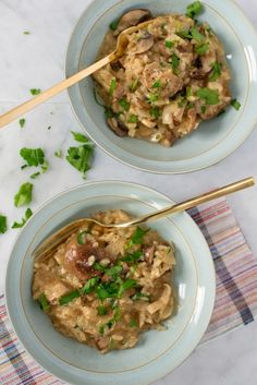 Mushroom Risotto   2 tbsp. of olive oil 1 medium yellow onion, chopped 1 cup arborio rice (you need this type of rice) 1 cup dry white wine 4 cups chicken broth (hot is better) 2 cups chopped mushrooms (I used portabella, mini bellas and shiitake) 1/4 cup butter 1/2 cup grated Parmesan Salt and pepper 1/3 cup chopped parsley (optional)