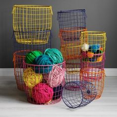 Colorful Wire Baskets