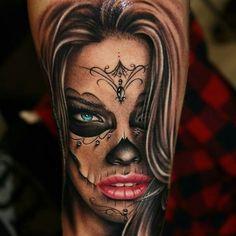 #tattoo #tattoos #ink #inked #art #artist #tattooconvention #tattooing #tattooart #tattooistartmagazine #tattooartist #eternalink #kwadron #lakatrina #muerta #muertatattoo #face #facetattoo #tibitattooart #szalaitibor #tempelmünchen #adrianalima