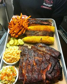 I'm just going to set this down in my feed and step away. Enjoy Pic by one of my favorite feeds @hoodoobrownbbq -  Platter: Noun. The vessel in which we serve our culinary works of art to all you hungry people. Hoos hungry? . . . #hoodoobrown #ribs #brisket #corn #slaw #pickles #sweetpotatofries #platter #bbq #barbecue #grill #grilling #FoodPorn #FoodPhotography #Foodstagram #InstaFood #FoodPics #foodphotos #Foodgasm #Meat #MeatPorn #EEEEEATS #ForkYeah #ManFood #carnivore #MeatSweats…