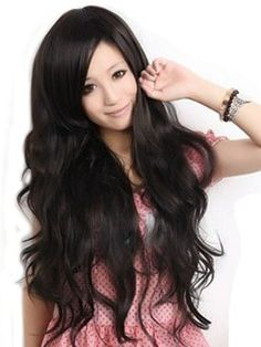 Sexy Women's Long Wavy Wig (Model: JF010577) (Black) by cool2day. $13.99. Please kindly note it's not REAL PERSON HAIR , the model wearing WIG is just for show. Please kindly note it's not REAL PERSON HAIR , the model wearing WIG is just for show Feature: 1.Excellent Quality straight 100%  Japanese Kanekalon (high quality one-) made fiber wig    2.With a wig-centering design, It was made of high temperature wire, Therefore ,it can be straightened by hair sticks    ...