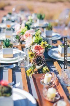 texas desert chic table decor // photo by Heather Ann Design & Photography | VIA #WEDDINGPINS.NET