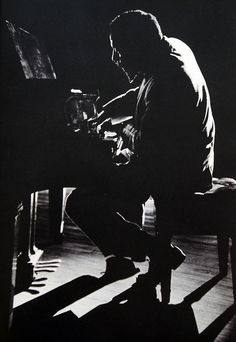 Thelonious Monk in performance at Town Hall, New York, mid-late 1950s. by Dennis Stock