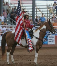 Rodeo of the Ozarks Rounders! This is Miss Amanda looking gorgeous with our Nation's colors!