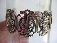Victorian Vintage paris  souvenir bracelet silver by 2007musarra, $149.00
