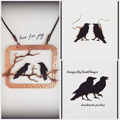 pendientes de cuervo Cuervo pendientes joyería Cuervo