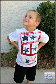 DIY of July Shirts - Summer Survival for Boys - Creativity Sponge Painting, 4th Of July Outfits, Patriotic Decorations, Fourth Of July, Diy For Kids, Dress Outfits, Easy Diy, Girls Dresses, Boys