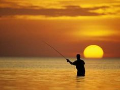 Photographic Print: Fly Fisherman in the Florida Keys, Florida, USA : 24x18in