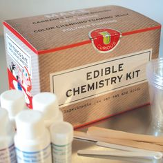 Edible Chemistry Kit. Fun science gift website.