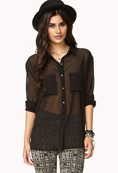 Everyday Chiffon Shirt | FOREVER 21 - 2000051529