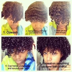 Have yet to achieve the definition I want from my hair, may need to try this method with the added water