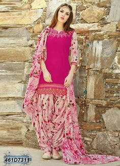 Fashionnow Pink Cotton T p Salwar KameezSalwar Kameez - Buy Salwar Kameez Online in India at Best PricesMy special favourite 💕 Pakistani Dresses Casual, Indian Gowns Dresses, Indian Fashion Dresses, Dress Indian Style, Pakistani Dress Design, Indian Outfits, Salwar Designs, Patiala Suit Designs, Kurta Designs Women