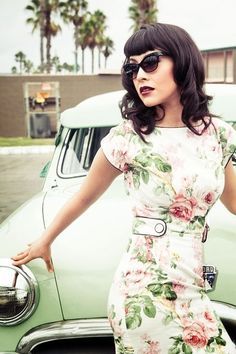 Washed out florals, especially with a nod to the Hitchcockian 1940's and 1950's.  Innocence married to film noir.