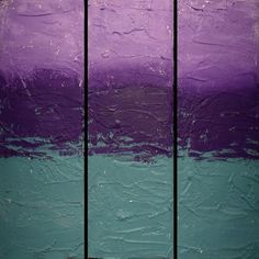 "Items similar to EXTRA LARGE WALL triptych 3 panel art "" Triptych Serenity"" turquoise paintings on canvas original abstract kunst Peintingu purple 48 x on Etsy 3 Panel Wall Art, Triptych Wall Art, 3 Piece Wall Art, Canvas Wall Art, Large Painting, Hand Painting Art, Painting Frames, Painting Canvas, Original Paintings For Sale"