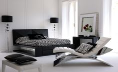 Black and White Modern furnish design Day and night, in a room In smaller homes is a necessary way. But it becomes a dynamic alternative in ...