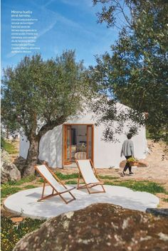 We've been wanting to go back to Portugal, and I've found just the spot! Check out Casas Caiadas – OMG, perfection! Outdoor Spaces, Outdoor Living, Outdoor Decor, Boutique Homes, Mediterranean Homes, Future House, Interior And Exterior, Interior Ideas, Architecture Design