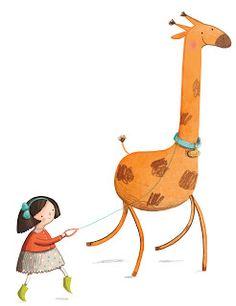Walking My Giraffe - omg this is so cute!!!