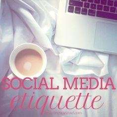 Ladylike Laws: Social Media Etiquette Good advice from Lauren Conrad. Social Media Etiquette, Social Media Tips, Social Media Marketing, Lauren Conrad, Entrepreneur, Etiquette And Manners, Blogging, For Facebook, Career Advice