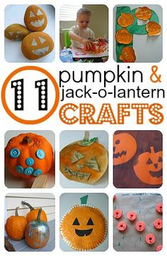These easy Pumpkin Crafts For Kids are a fun way to get in the mood for the fall and Halloween season. Theme Halloween, Halloween Crafts For Kids, Halloween Activities, Autumn Activities, Holidays Halloween, Fall Crafts, Holiday Crafts, Holiday Fun, Halloween Season