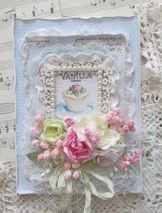 Shabby cupcake carte