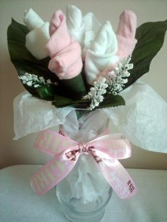 Girl Baby Sock Bouquet
